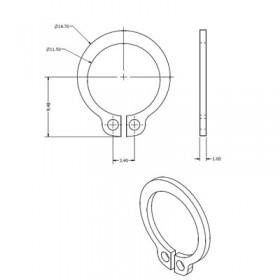 External 12mm Circlip
