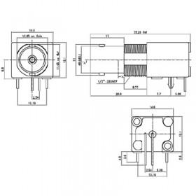 C-SX-059 - Right Angle BNC Socket