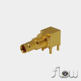 C-SX-086GRZR2 - PCB Right Angle 1.0 / 2.3 Bulkhead Connector