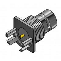 C-SX-093 - Edge Mounted PCB Mini BNC Bulkhead Socket
