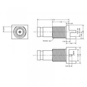 C-SX-098G - PCB Edge Mounting 1.0 / 2.3 Bulkhead Connector