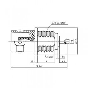 XBD-1005-NGAB - BNC Bulkhead Socket