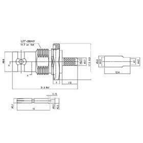 XBD-1014-NGAF - BNC Bulkhead Socket