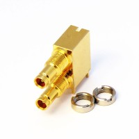 C-SX-117G - Dual Port Right Angle DIN 1.0/2.3 Connector