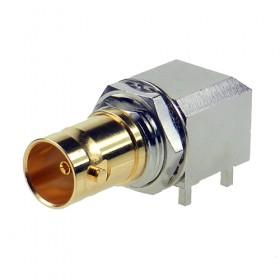 Right Angle PCB Mounting BNC Bulkhead Socket
