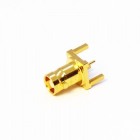 Top Entry 3 Pin PCB Short Body Micro BNC Connector