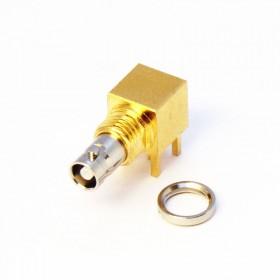 C-SX-142 - Right Angle Bulkhead Micro BNC Connector