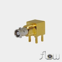 C-SX-142NGRZR2 - Right Angle Bulkhead Micro BNC Connector