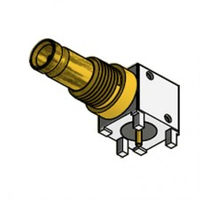 PCB Right Angle Bulkhead Connector for PCI Express® Applications