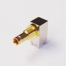 C-SX-149 - Right Angle DIN 1.0/2.3 Bulkhead Connector (Long Body)