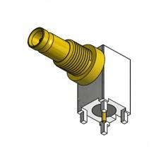 PCB Right Angle Bulkhead Connector (Long Body)
