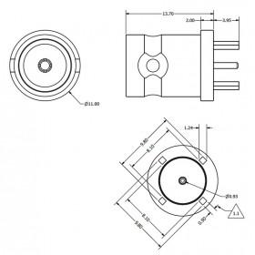 Top Entry PCB Mounting BNC Socket
