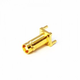 Top Entry 3 Pin PCB Long Body Micro BNC Connector