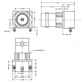 Right Angle Surface Mount BNC Socket (for automatic placement)