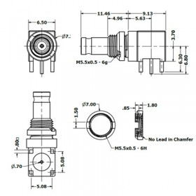 C-SX-175 - Right Angle PCB Bulkhead Mounted Connector