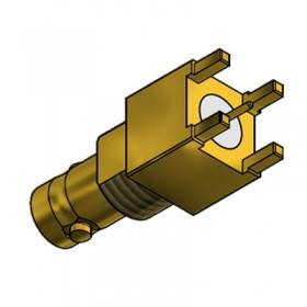 Top Entry PCB Mounted Micro BNC Bulkhead Socket