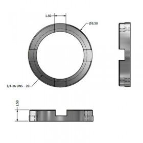 4 Slot Circular Micro BNC Nut