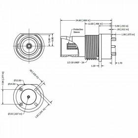 C-SX-182 - Top Entry Bulkhead BNC Connector