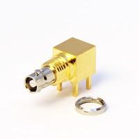 C-SX-185 - Right Angle Micro BNC Bulkhead Socket