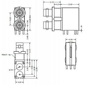 Dual Port Micro BNC Connector
