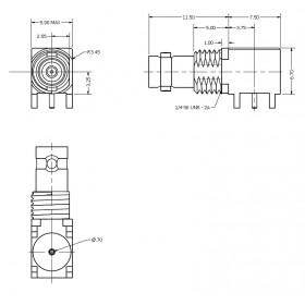 C-SX-194 - Right Angled Micro BNC Connector (slim body)