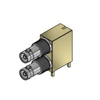 C-SX-196G - Dual Port Micro BNC PTH-SMT Connector