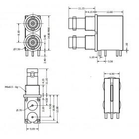 C-SX-207 - Dual Port Micro BNC Connector