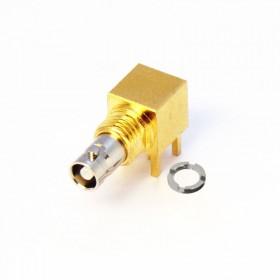 C-SX-210 - Right Angle Bulkhead Micro BNC Connector