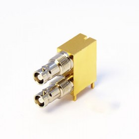 C-SX-213 - Dual Port Right Angled Micro BNC Connector