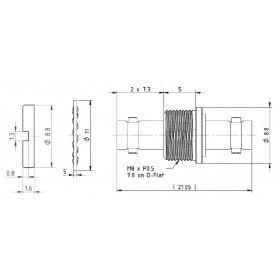 C-SX-216 - Micro BNC Isolated Bulkhead Female to Micro BNC Female Adaptor