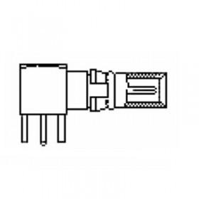 Coaxial PCB Right Angle Plug