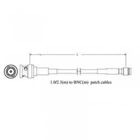 6GHz DIN 1.0/2.3 (m) to BNC (m) Patch Cables - Belden 1855A Cable