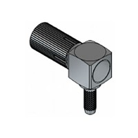 XGT-8016-NGAF - DIN 1.0 / 2.3 Right Angled Screw On Cable Mounted Plug