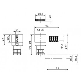XJT-A008-GGAF - 12GHz Right Angle MCX Connector