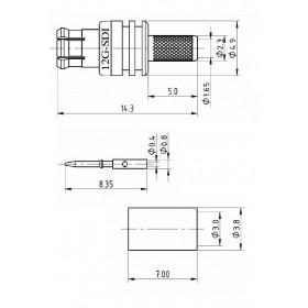 XJT-A009-GGAF - 12GHz Straight MCX Connector