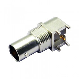 Right Angle PCB Mounting BNC Connector with Pathfinder TM Light Pipe for PCI® Express Applications (2.2mm leg)
