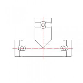 XBD-1011-NGAA - T Junction Female BNC Adaptor