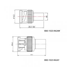XBD-1023-NGXX - BNC Terminator Plug