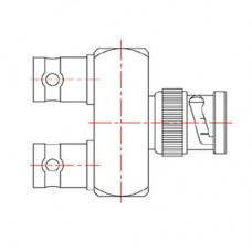 XBD-1033-NGXX - BNC Y Junction Adaptor