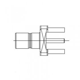 Top Entry PCB Mounted SMB Socket