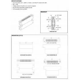 """Card Edge Header 2.54mm [.100""""] Contact Centres"""