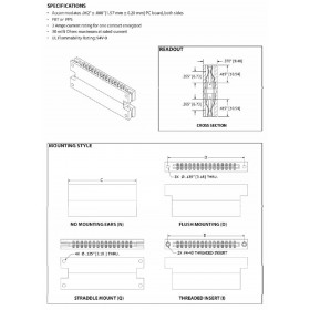 "Card Edge Header 3.96mm [.156""] Contact Centres"