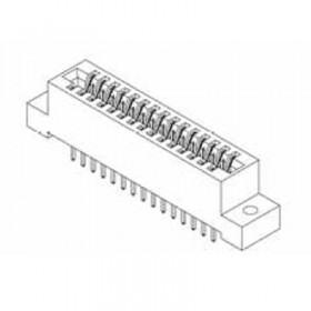 """Card Edge Header 3.18mm [.125""""] Contact Centres, 15.49mm [.610""""] Insulator Height"""