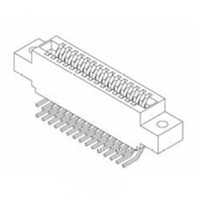 """Card Edge Header 2.54mm [.100""""] Contact Centres, 14.22mm [.560""""] Insulator Height"""