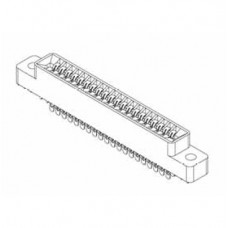 "Card Edge Header 2.54mm [.100""] Contact Centres, 10.95mm [.431""] Insulator Height"