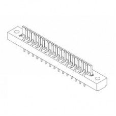 "Card Edge Header 3.96mm [.156""] Contact Centres, 13.72mm [.540""] Insulator Height"