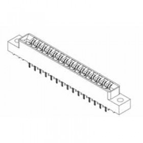 "Card Edge Header 3.96mm [.156""] Contact Centres, 10.95mm [.431""] Insulator Height"