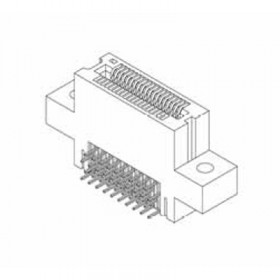 "Card Edge Header 1.00mm [.039""] Contact Centres, 21.84mm [.860""] Insulator Height"