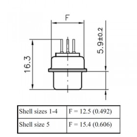 High Density D Subminiature Straight Connector