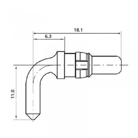 High Power Right Angle Plug Contact (40A)